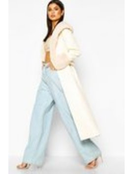 Faux Fur Trim Pu Trench Coat Faux Fur Trim Pu Trench Coat by Boohoo