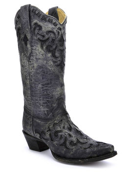 Corral Women's Stingray Inlay Cowgirl Boots   Snip Toe by Corral