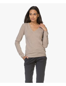 Via V Hals Pullover • Beige by Resort Finest