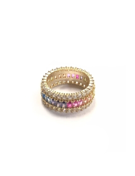 Rainbow Stone Ring by Let's Accessorize, New York
