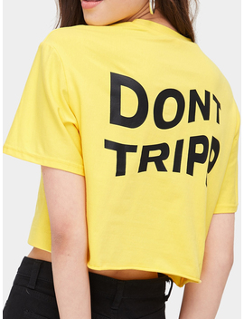 Yellow Letter Print Women Crop T Shirt by Choies