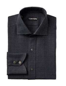 Slim Fit Checked Dress Shirt by Tom Ford Slim Fit Checked Dress Shirt