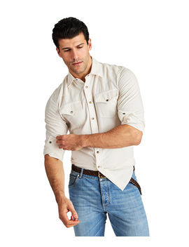 Corduroy Western Shirt by Brunello Cucinelli Corduroy Western Shirt