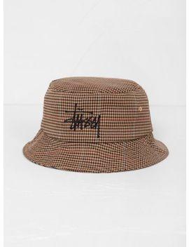 Big Logo Check Bucket Hat by Stüssy