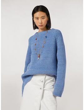 Ribbed Crewneck Knit In Virgin Wool by Marni