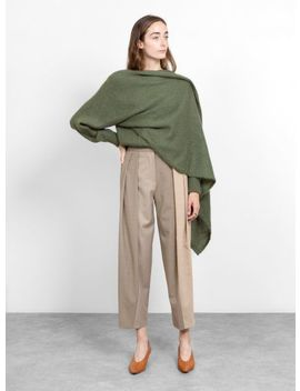 Collet Mohair Jumper Moss Green by Rejina Pyo