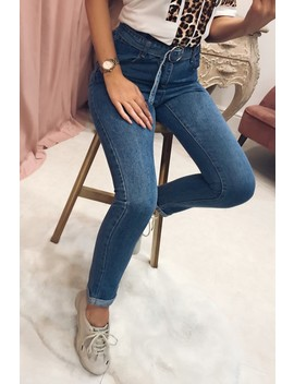 Dara Light Wash Elasticated Waist Mom Jeans by Misspap