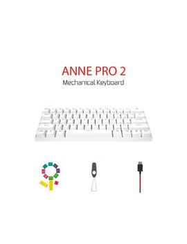 Anne Pro 2 Mechanical Keyboard 60% Rgb Wired/ Wireless Bluetooth 4.0 Pbt Type C Blue Switch White  Great Keyboard.Great Keyboard Nice Keyboard   Make Sure You Have A Spare Usb C Cable Before Buying! by Newegg