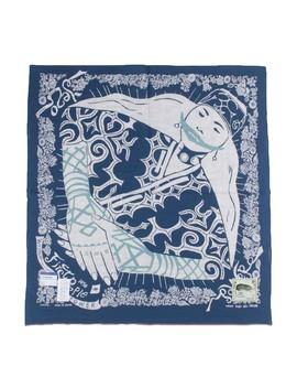 Fastcolor Selvedge Bandana (Ainu Woman)   Navy by Kapital