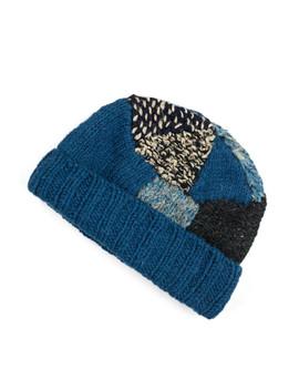 Hand Knit Tugihagi Cap   Navy by Kapital