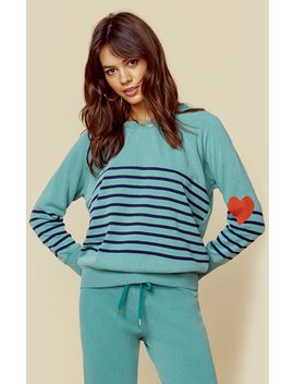 Pullover Heart + Stripes by Sundry