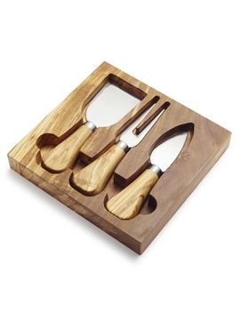 Olivewood Cheese Knife Set by Sur La Table