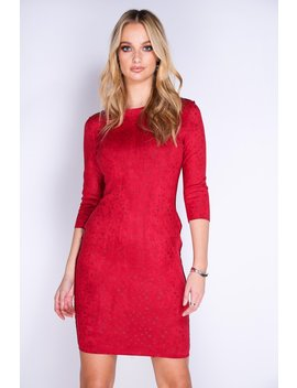 Red Star Print Bodycon Dress by Hidden Fashion