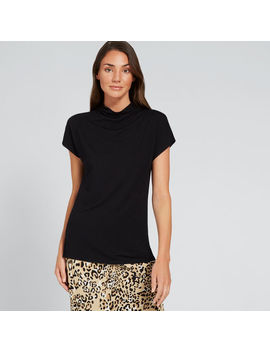 Mock Neck Drapey Top by Seed Heritage