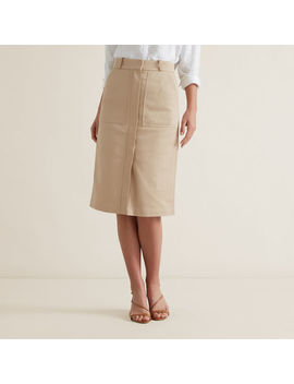 Patch Pocket Midi Skirt by Seed Heritage