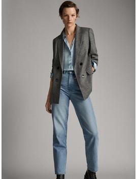 jeans-dÉlavÉ-coupe-droite-slim by massimo-dutti