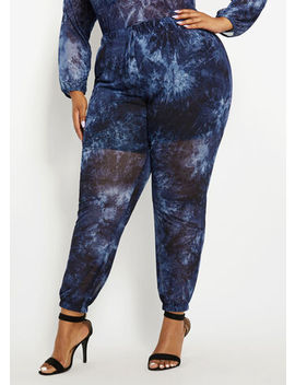 Mesh Tie Dye Jogger by Ashley Stewart