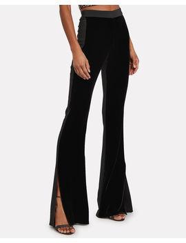 velvet-high-rise-flared-pants by cushnie