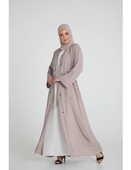 Nude Open Abaya by Abayabuth