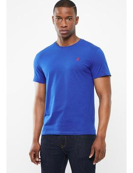 Lucas Plain Crew Neck    Blue by Polo