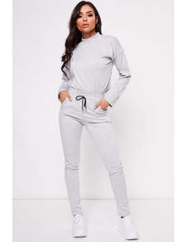 Polly Grey Turtle Neck Lounge Set by Misspap