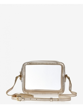 Collins Crossbody by Clear Bag With White Gold Trim
