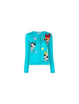 Girls' Gg Printed 3/4 Sleeve Crewneck Sweater   Blue by Moschino