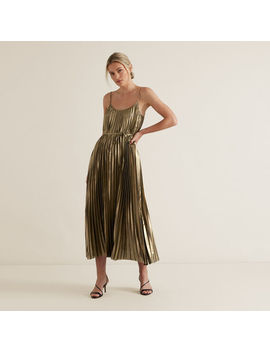 Pleated Lame Dress by Seed Heritage