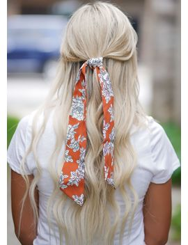 Brick Floral Hair Scarf by Rosie Daze