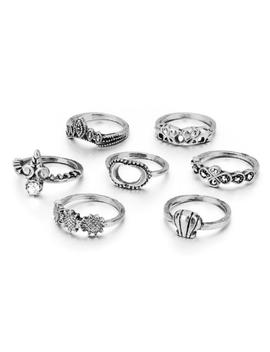 Silver Dreams Ring Set by Coconut Lane