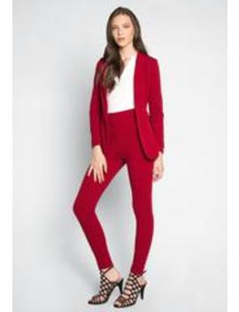 Dakota Fitted Blazer And Pants Set by Wet Seal