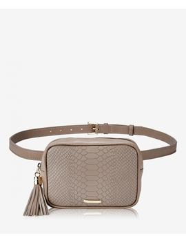 Kylie Belt Bag by Stone Embossed Python
