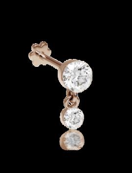 3mm 2mm Invisible Set Diamond Dangle Threaded Stud by Maria Tash