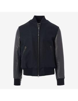 Zip Up Varsity Jacket By Golden Bear by Allen Edmonds