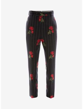 Rose Pinstripe Trousers by Alexander Mc Queen