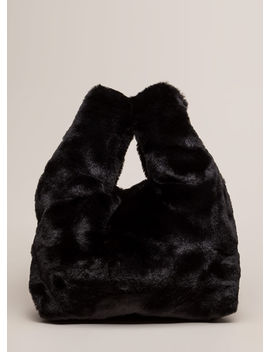 Soft And Fluffy Faux Fur Tote Bag by Go Jane