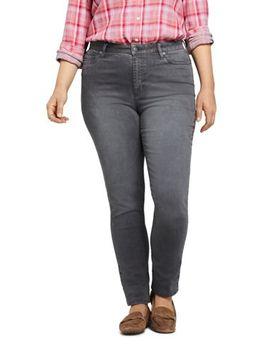 Women's Plus Size Mid Rise Straight Leg Jeans   Color by Lands' End