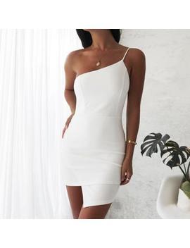 Kendal One Strap Dress  White by Love Loren