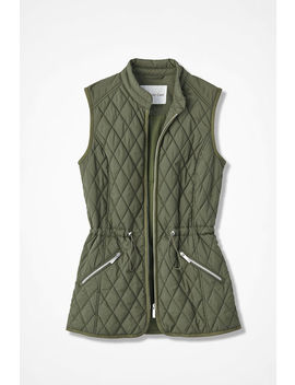 Quilted Drawstring Vest by Coldwater Creek