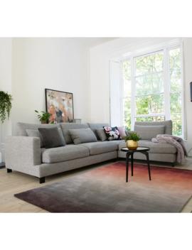 Lugano Right Hand Corner Sofa Grey by Dwell
