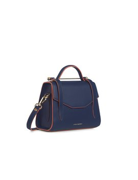 Allegro Mini   Navy With Maple Edge by Strathberry