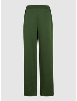Wide Leg Crepe Trousers by Bouguessa