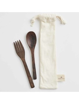 Green + Kind Natural Wood Cutlery Set by Green Kind