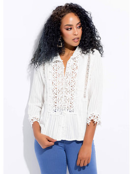 Flower Child Crochet Tunic Top by Go Jane