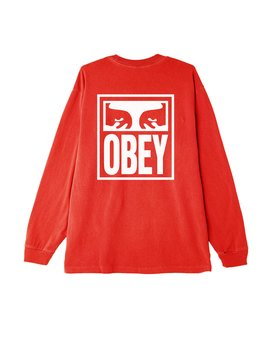 Obey Eyes Icon Basic Pigment Ls T Shirt by Obey