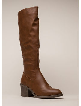 Show Quality Block Heel Riding Boots by Go Jane