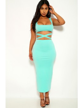 Jade Strappy Two Piece Dress by Ami Clubwear