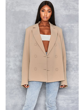 Camel Oversized Blazer by Mistress Rocks