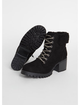 Cuff Me Chunky Faux Shearling Booties by Go Jane