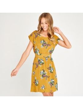 Yellow Floral Bunches Dress by Apricot
